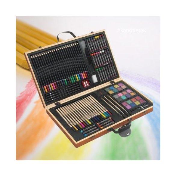 MONET 88 darabos művész színező készlet - Ajándéktárgy