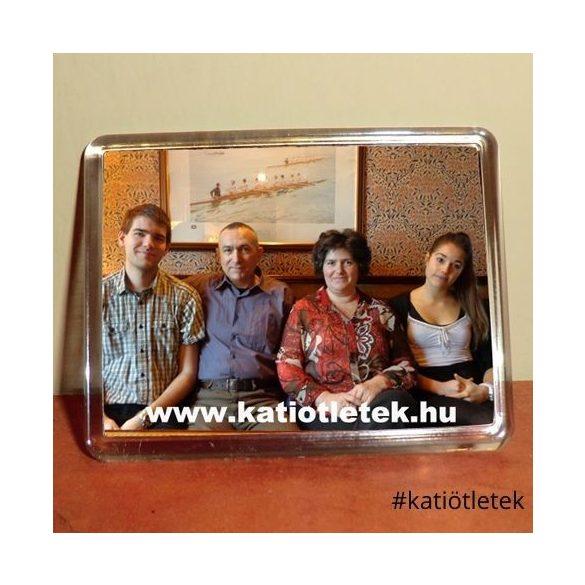 Akril hűtőmágnes tok 60x45 mm-es képhez - Ajándéktárgy