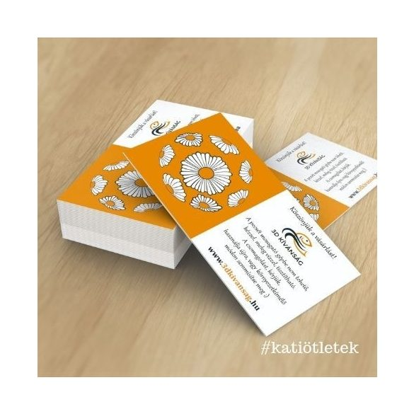 Névjegykártya gyártás: 3D kívánság termékkísérő kártya