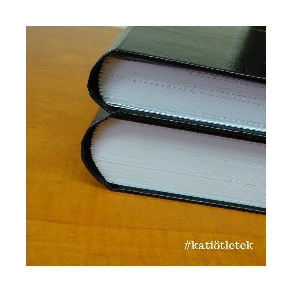 Keménytáblás műbőr kötéses cérnafűzött könyv készítés