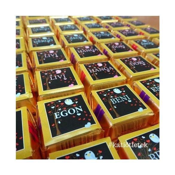 Egyedi minicsokik, táblás csokik készítése